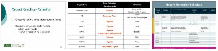 Retention Requirements 2